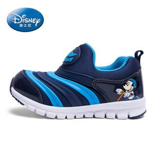 迪士尼 DISNEY 童鞋 毛毛虫童鞋 秋季儿童运动鞋女 运动鞋男 跑步鞋 儿童鞋子 2942 蓝色 33码
