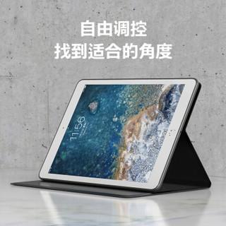 毕亚兹 苹果iPad Mini3/2/1保护套 mini3/2/1保护壳 智能休眠 全包防摔 软壳不伤机 原麻系列PB74-深灰色