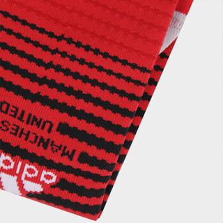 adidas 阿迪达斯 MUFC H SO曼联18-19赛季主场足球袜比赛袜 CG0023 L (40-42) 红黑