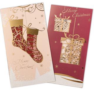 汤丞一品(TANGCHENGYIPIN)圣诞节日贺卡公司商务活动年会员工祝福纪念礼物卡明信片 1包7个款装