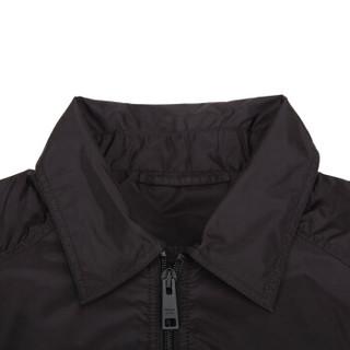 PRADA 普拉达 男士黑色酒红色锦纶夹克外套 SGN794 Q04 F0I21 S 182 46码