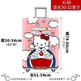 班哲尼 拉杆箱旅行箱保护套弹力行李箱套防尘雨罩加厚耐磨托运套 多啦猫适用30英寸31英寸32英寸拉杆箱