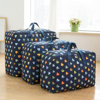 京唐 手提牛津布棉被收纳袋整理袋衣物行李袋搬家打包袋子三件套 咖色彩心