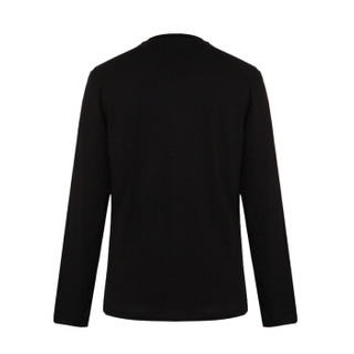 VERSACE JEANS 范思哲 奢侈品 男士黑色棉质圆领字母图案长袖T恤 B3GSB74B 36590 899 XL码