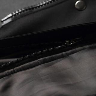 卡帝乐鳄鱼 (CARTELO) 夹克男2018冬季新款修身保暖时尚潮流中长款风衣韩版连帽外套男 黑色 3XL