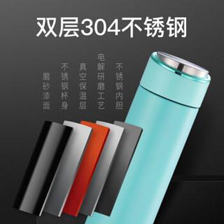TLK 保温杯 304不锈钢保温便携杯子 450ml 浅蓝色