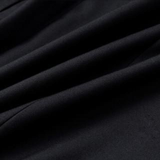 金盾(KIN DON)西服套装 男新款结婚礼服伴郎服套装职业装职场正装二件套 216XF681 黑色双扣 M