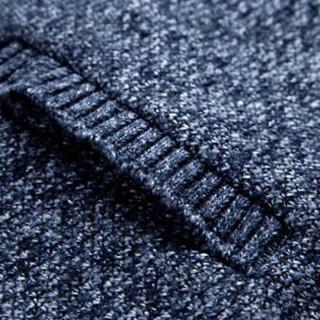 金盾(KIN DON)针织衫 2019新款男士时尚潮流开衫加绒加厚保暖夹克针织衫QT4016-1-M3蓝色L