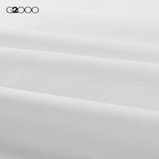 G2000男装宽角领修身衬衫长袖 2018秋冬新款商务顺滑纯棉正装衬衣00140854 白色/00 05/170