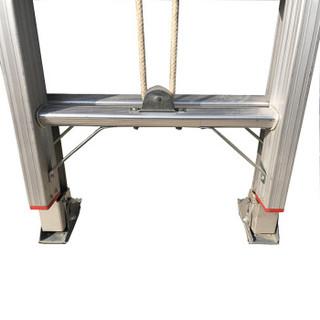 攀云 伸缩升降梯工程工业梯子家用 单面直梯铝合金加厚楼梯子 LB-235J-700 ( 展开高度 6.05M)