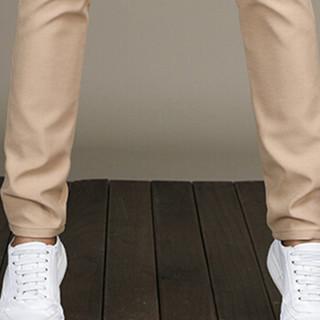金盾(KIN DON)休闲裤 新款男士时尚简约修身休闲长裤1002-XX829卡其色28