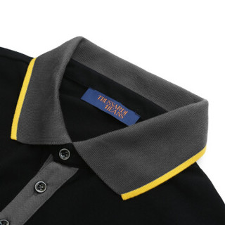 TRUSSARDI JEANS杜鲁萨迪男士黑色棉质长袖POLO衫52T00151 1T001678 K299 S码