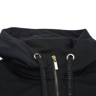 LI-NING 李宁 AWDN798-1 篮球系列 女 卫衣类 标准黑 XL