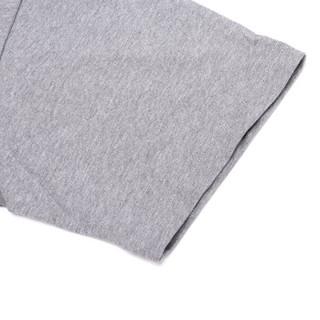KENZO 高田贤三 男士鸽灰色虎头图案棉质圆领短袖T恤 F86 5TS077 4YG 95 M码