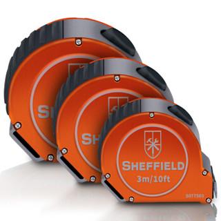 钢盾S077575不锈钢铝合金自锁钢卷尺配安全别扣 耐压抗冲击测量尺7.5m