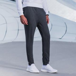 XTEP 特步 男子针织长裤秋季新品舒适休闲运动时尚穿搭合身潮流裤子 882329639306 深花灰 L