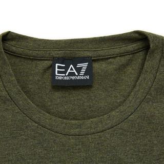 EA7 EMPORIO ARMANI阿玛尼奢侈品男士简约字母印花针织T恤 6ZPT21-PJ20Z GREEN-3803 S