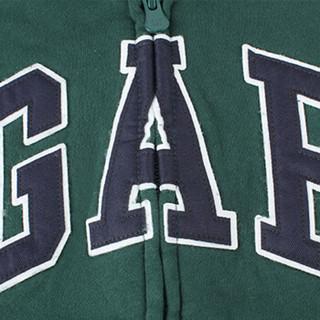 Gap旗舰店 男婴幼童加绒连帽衫卫衣354258   小童儿童外套 深绿色 18-24M