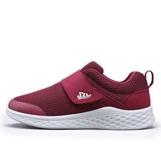 健足乐 妈妈中老年休闲轻便一脚套户外运动健步鞋 J83605604 酒红40