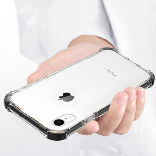 KOOLIFE 苹果XR手机壳 iPhoneXr保护套 亚克力背板防摔透明保护套/全包外壳6.1英寸-黑色
