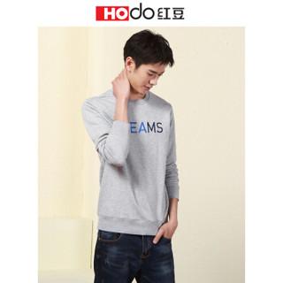 红豆 Hodo男装 卫衣男休闲运动系列圆领套头休闲卫衣 S1浅灰 175/92A