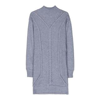 尚格帛 2018冬季新品女装毛衣女中长款打底针织衫韩版宽松加绒加厚毛衣 LLFYE5832GB 酒红 S