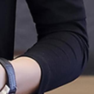 俞兆林(YUZHAOLIN)长袖T恤 男士时尚百搭V领纯色长袖T恤D305-1-9831黑色M
