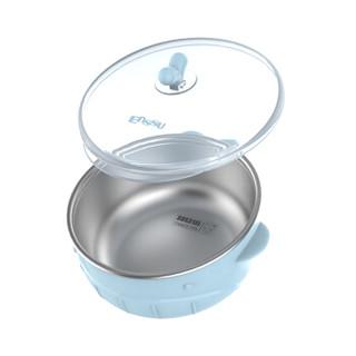 樱舒Enssu辅食碗儿童餐具 婴儿新生儿碗宝宝注水保温碗餐具套装不锈钢吃饭碗ES3161