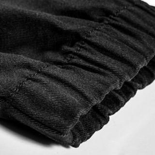 卡帝乐鳄鱼(CARTELO) 男士时尚休闲束脚九分休闲裤子KZ803黑色L