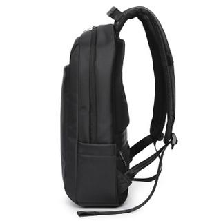 goldlion 金利来 双肩包时尚简约书包男款商务电脑包15.6英寸大容量背包多功能旅行背包 黑 FA183051-111