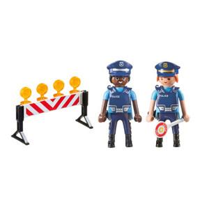 摩比世界(playmobil)6924 城市警察系列 警察设置路障