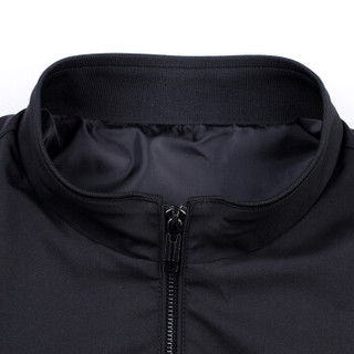 花花公子 PLAYBOY 夹克男外套立领休闲男装短款上衣茄克衫 68582003 黑色 170/L