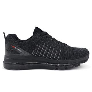 WARRIOR 回力 男士时尚百搭休闲飞织网布跑步气垫运动鞋 WXY-7002 灰色 43
