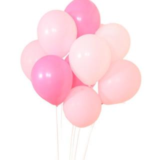 热带森林 婚庆气球 情人节装饰品 年会聚会结婚求婚表白生日布置装饰 圆形彩色混装100只装 赠气筒和丝带