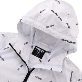 LI-NING 李宁 篮球系列 男 外套 AFDN027-1 标准白底满印 3XL