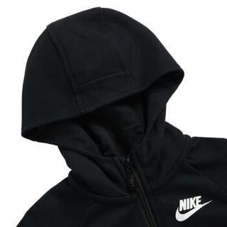 耐克Nike YA男中小儿童连帽开衫卫衣款春秋装潮拉链运动休闲外套83421HO517F