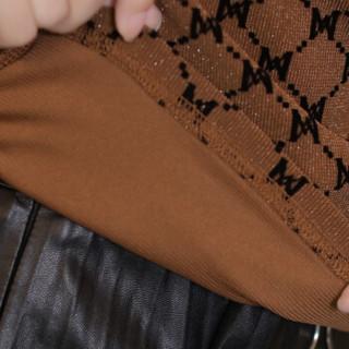 欧偲麦 金丝绒打底衫女春秋款长袖2018冬季新款百搭上衣厚款时尚女装气质 ZY-2780 黑色 3XL