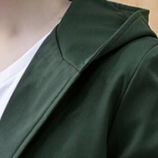 俞兆林(YUZHAOLIN)风衣夹克 男士时尚简约连帽纯色夹克外套401-F124军绿色L