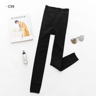 TOLORINIE 冬季600D加厚加绒踩脚款一条装锦纶超柔舒适保暖外穿一体裤 黑 均码