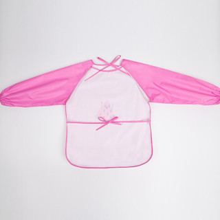 kk树 kocotree 儿童罩衣婴儿长袖女孩男童饭兜反穿衣儿童围裙画画衣围兜 西瓜 S