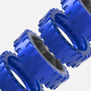 凯速健腹轮金属轴承实芯杆静音腹肌轮收腹滚轮家用健腹器(带跪垫)蓝色PR502
