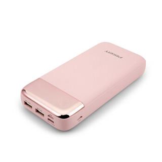 品胜(PISEN)20000毫安聚合物移动电源/充电宝 三入三出 屏显支持Type-C双向充电 苹果华为安卓通用 闺蜜粉