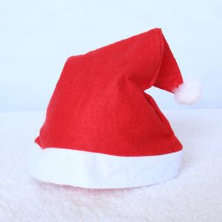 爸爸妈妈(babamama)圣诞帽子 10个装 圣诞头饰红色圣诞老人帽子 圣诞节装饰品 B9022