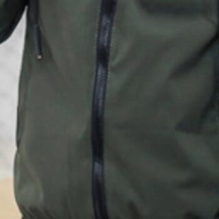 俞兆林(YUZHAOLIN)夹克 男士时尚简约连帽条纹长袖夹克外套B227-6127军绿色3XL