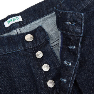 KENZO 高田贤三 男士海军蓝色棉质牛仔裤 F86 5PA523 2EB 76 33码