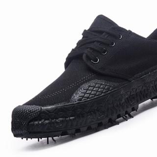 维致 解放鞋 男女军训登山户外透气劳保防刺穿耐磨帆布胶靴 WZ2001 黑色 43