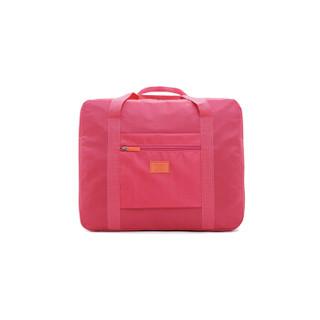 洁比世 旅游收纳飞机包可套拉杆防水折叠手提户外大容量行李 玫红