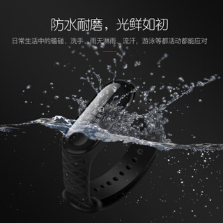 MKING 小米手环3代腕带 非原装手环腕带配件 NFC版表带 类原装硅胶三代 多彩替换腕带 菱形纹表带-深蓝