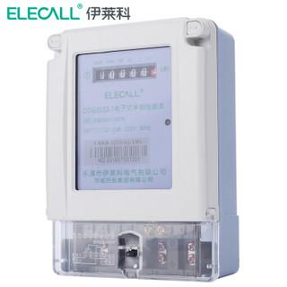 伊莱科 (ELECALL)有功电度表 1级 1.5(6A)出租房交流数字电表单相电能表 家用数显电子式 DDS3533-1