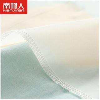 南极人(Nanjiren)宝宝吃饭罩衣纯棉长袖婴儿围兜儿童反穿衣防水围裙 灰蓝五角星 110